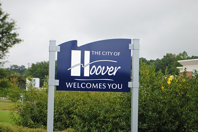 Hoover Welcome Sign