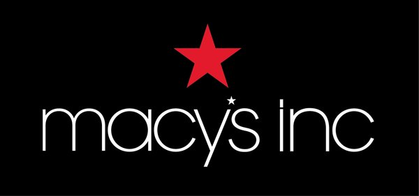 Macy's logo white on black