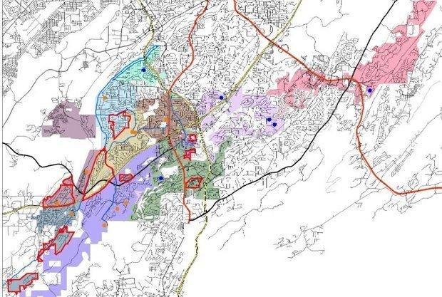 Hoover City Schools rezoning map August 2014.jpg
