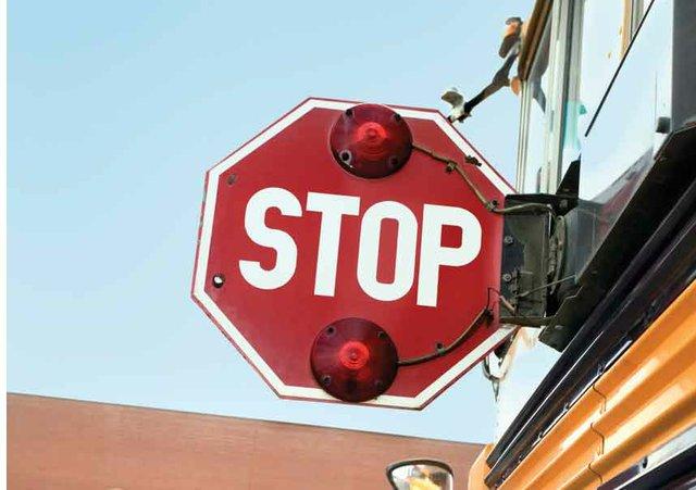 0713 School Bus Stop Sign