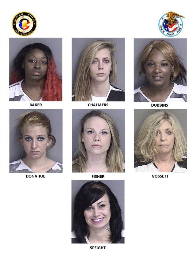Hoover PD arrests seven in prostitution sting - HooverSun com