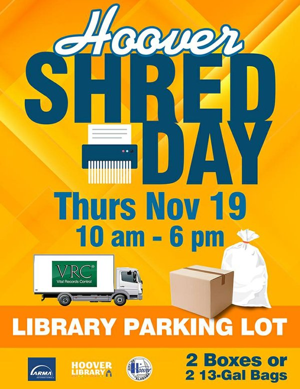 Hoover Shred Day 2015 poster