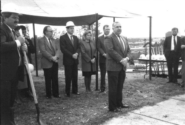 Georger Farmer Hoover library groundbreaking 1991
