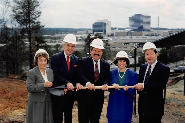 Hoover Public Library groundbreaking 1991