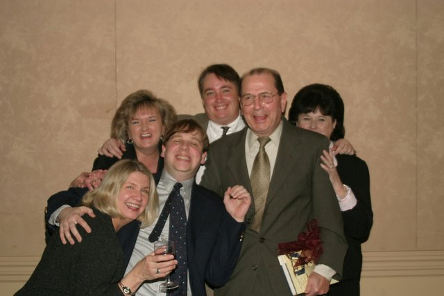 George Farmer with library staff Southern Voices 2004