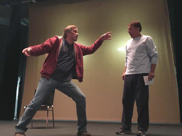 Scrooge rehearsal 3