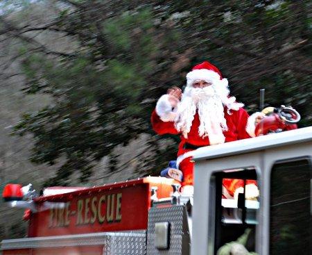 Hoover Fire Department Santa