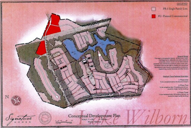 Lake Wilborn conceptual plan March 2013