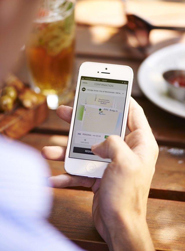 Uber ride request