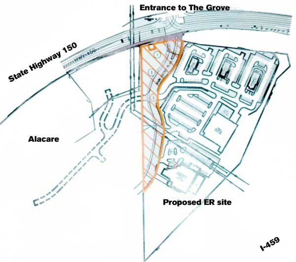 Proposed UAB West site