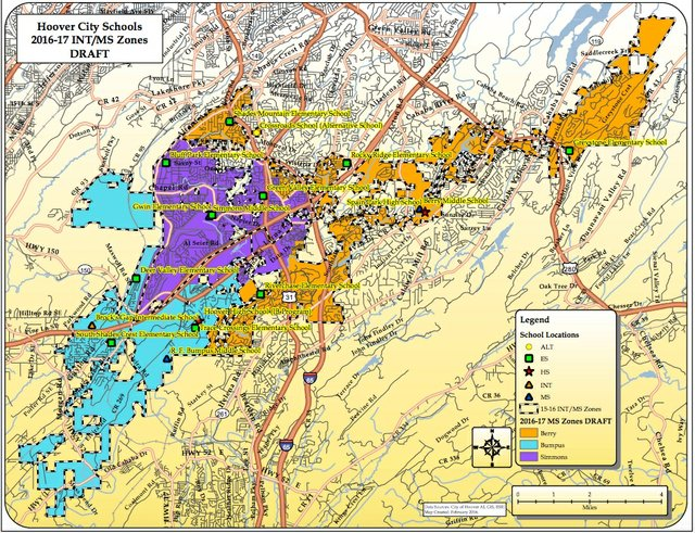 Hoover middle school 2016-17 zoning map draft 2-14-16