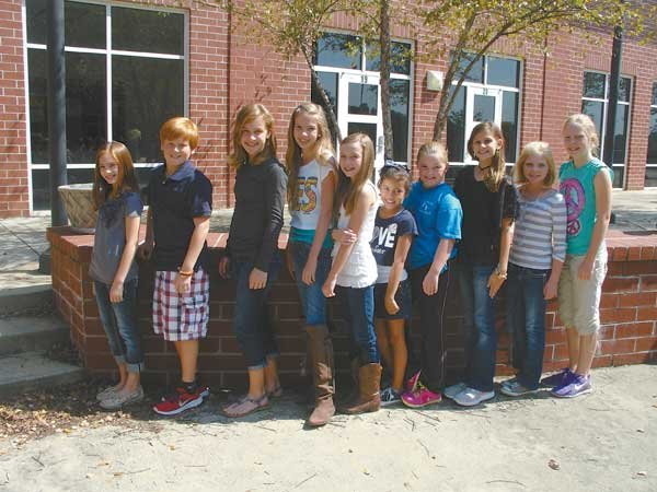 New sixth grade officers