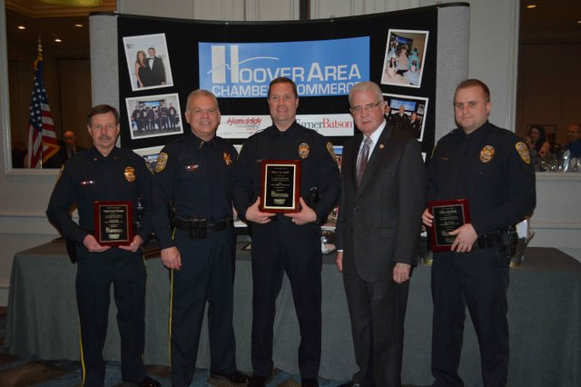 Hoover police officers of year 2015
