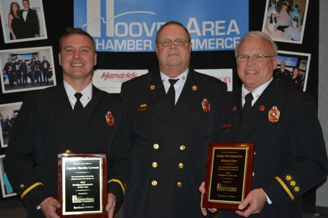 Hoover Fire Dept Awards 2015