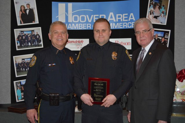 Hoover Police Officer of the Year 2015 Finalist Brohl