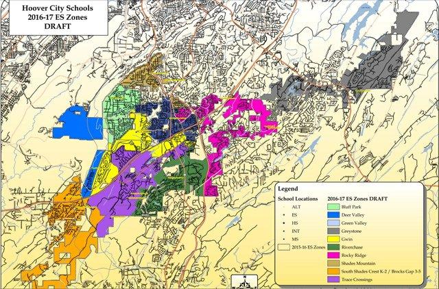Revised HV school rezoning map 3-3-16