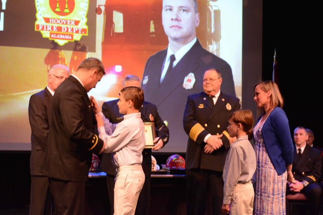 Hoover fire promotion ceremony 2016 Lawson
