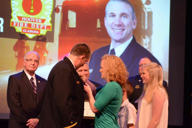 Hoover fire promotion ceremony 2016 Harbarger