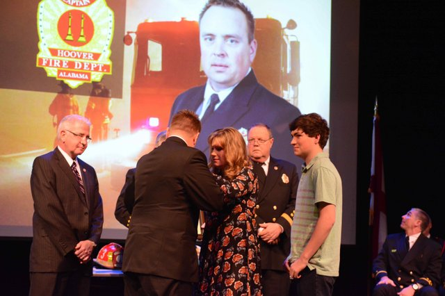 Hoover fire promotion ceremony 2016 Rigsby