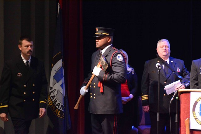 Hoover fire promotion ceremony 2016 entrance