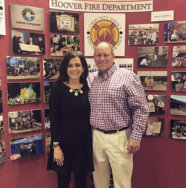 Hoover fire promotion ceremony 2016 Cofer (2)