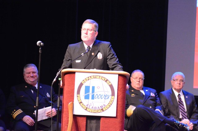 Hoover fire promotion ceremony 2016 Lowe