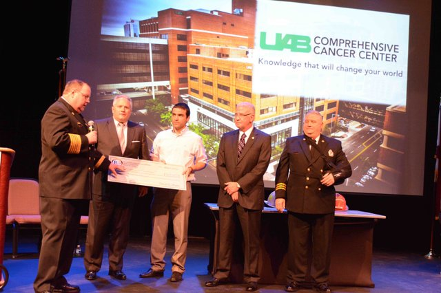 Hoover fire promotion ceremony 2016 cancer