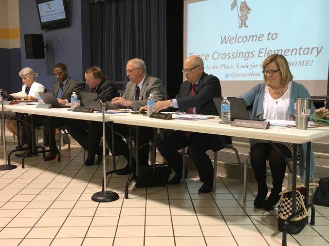 Hoover school board Jan 2016