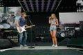 Bailey Ingle and Keith Urban sound check