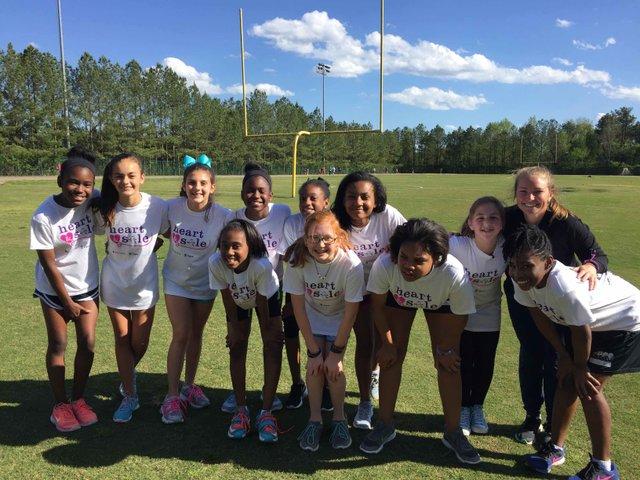 Brock's Gap Girls on the Run Team 2