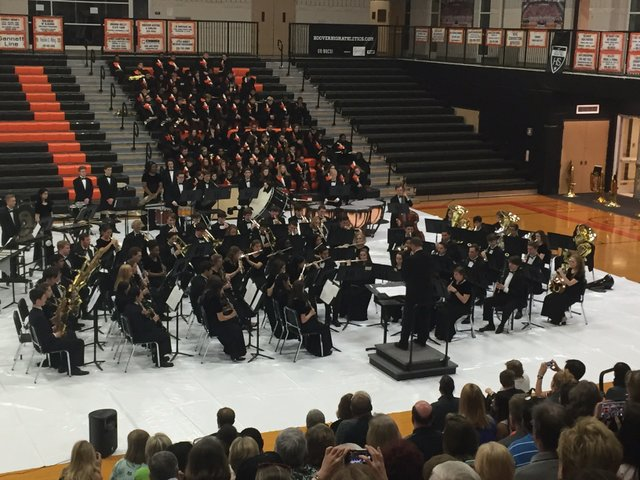 HHS Band spring concert 2016 1