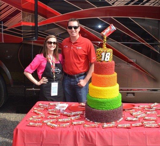 Skittles cake 1