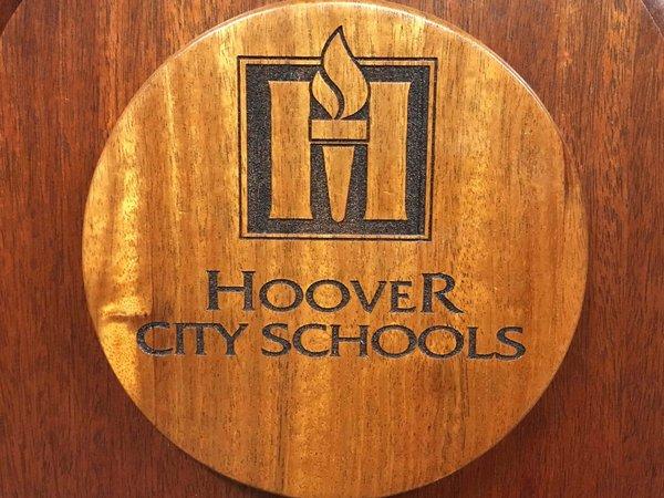 Hoover City Schools wooden logo