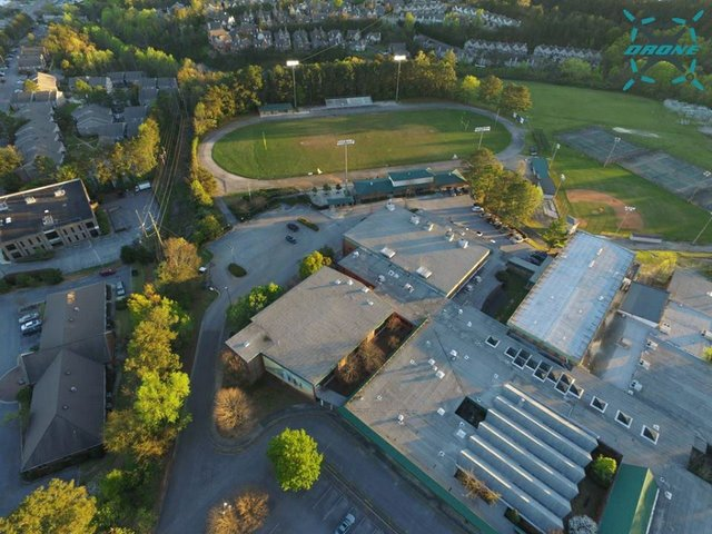 Former Berry High campus aerial 1