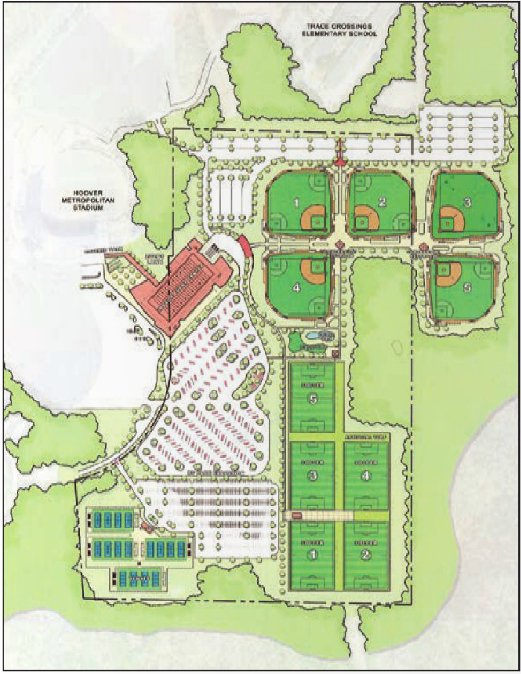 Hoover Sportsplex design June 2016