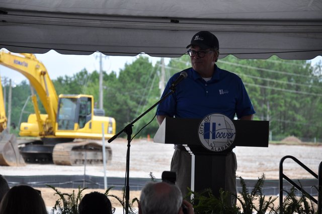 Hoover Sportsplex groundbreaking Wright