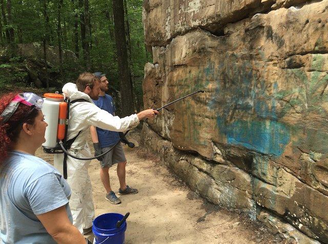 Moss Rock boulder clean up