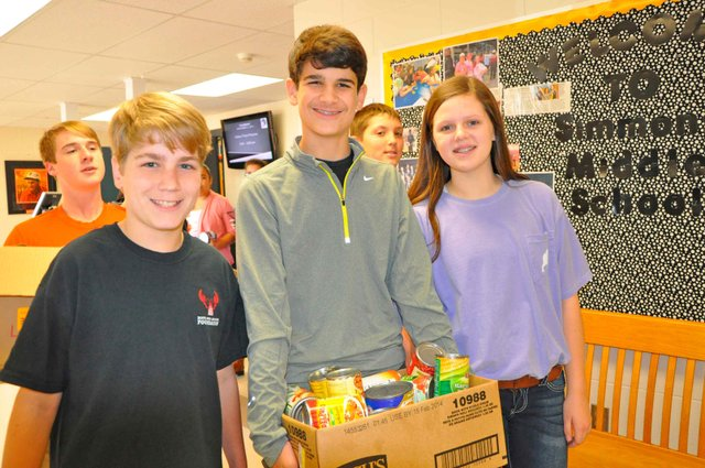 Simmons canned food donations