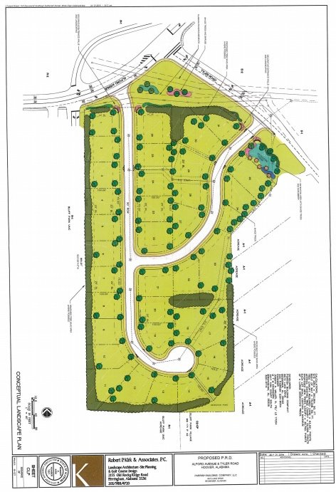 Tyler Road and Alford Avenue subdivision plan