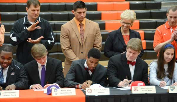 Hoover High Signing Day 2014 Football players