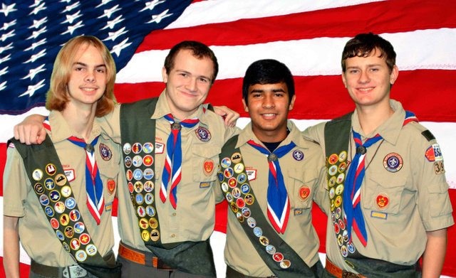 Eagle Scouts from Boy Scout Troop 396