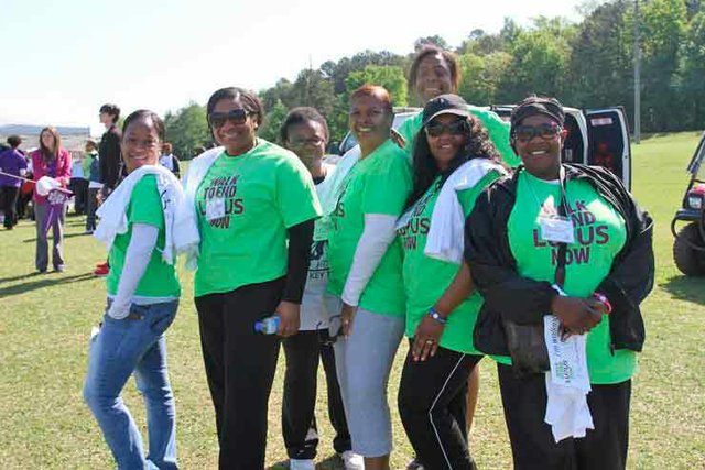Walk for Lupus Now volunteers