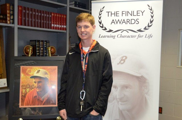 Hoover High Finley Award winner 2014 Chandler Fullman
