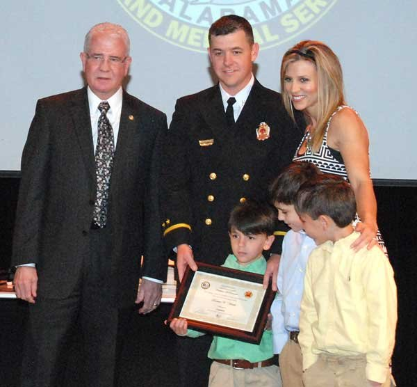 Hoover Fire Department awards Capt.Nathan Hinds