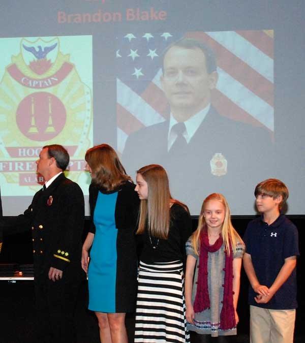 Hoover Fire Department awards Capt. Brandon Blake