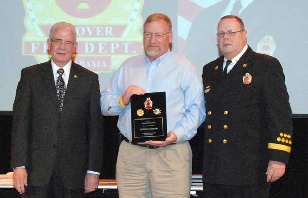Hoover Fire Department awards Retiree Lt. Robert Boroughs