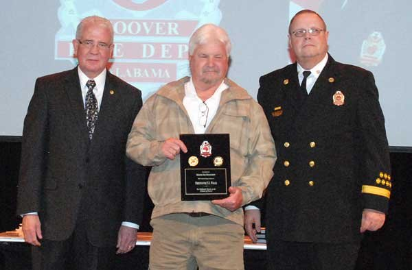 Hoover Fire Department awards Retiree Firefighter Terry Walls