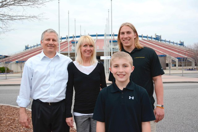 BOy of the Year Cooper Tullo and family