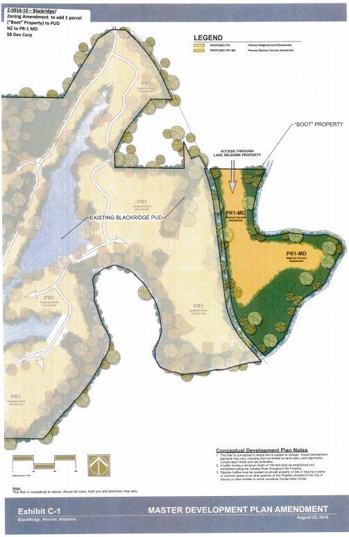 Blackridge Boot tree conservation map