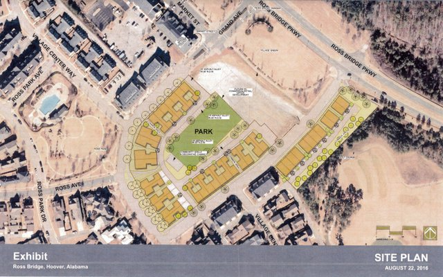 Ross Bridge townhome site plan 8-22-16